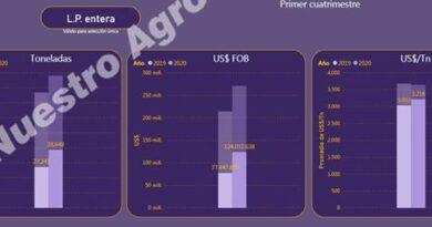 En abril, Argentina exportó leche en polvo a más de 3.100 US$/Tn