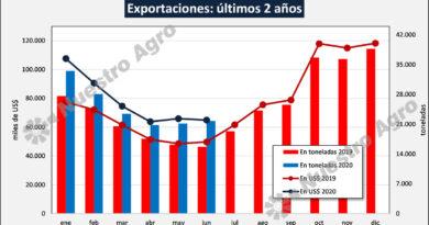 Crecen fuertemente las exportaciones de lácteos en el primer semestre