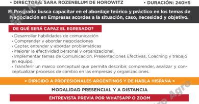 """Inscriben a posgrado interdisciplinario de """"Negociación en Empresas del Agro"""""""