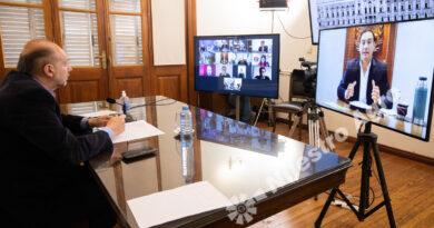 """Hidrovía: Perotti encabezó la primera reunión con los gobernadores del """"acuerdo federal"""""""