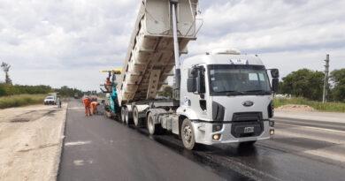 Comenzaron los trabajos de pavimentación para la Autopista RN34, a la altura de Sunchales